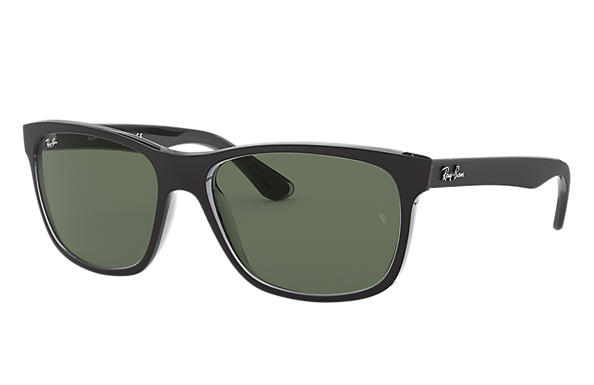 cf35545d86 Ray-Ban RB4181 Black - Nylon - Green Lenses - 0RB4181613057