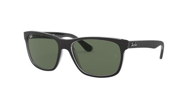 cf35545d86 Ray-Ban RB4181 Black - Nylon - Green Lenses - 0RB4181613057