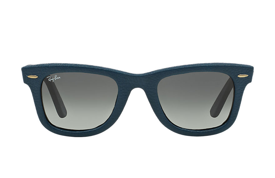 Ray-Ban WAYFARER LEATHER Blue with Grey Gradient lens
