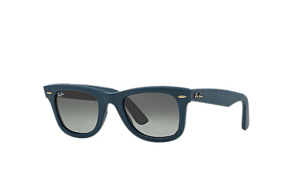 Ray-Ban 0RB2140QM-WAYFARER LEATHER Blau SUN