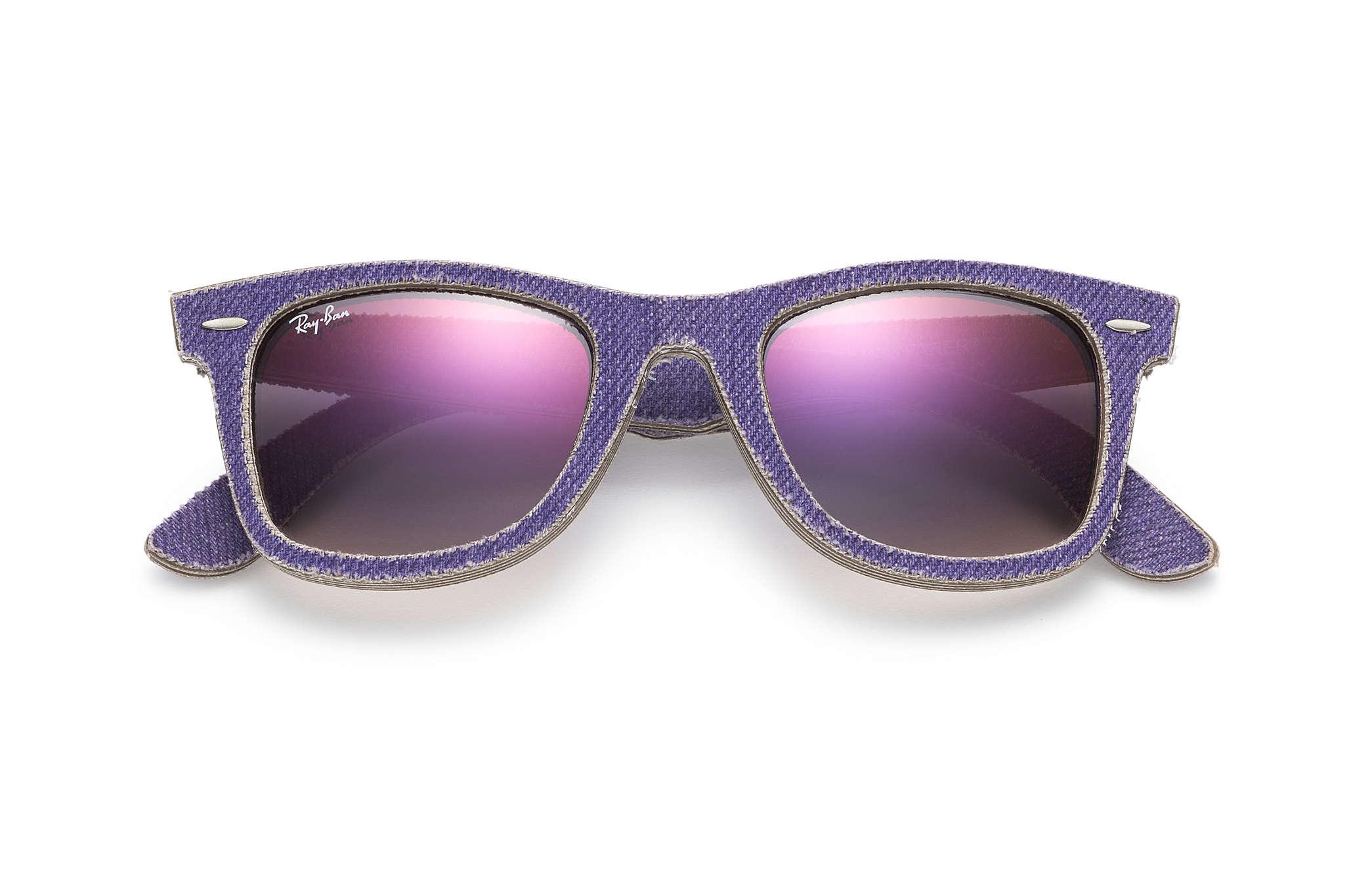 ray ban schwarz violett