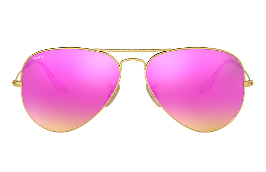 Ray-Ban  sonnenbrillen RB3025 UNISEX 076 aviator flash lenses gold 8053672339000