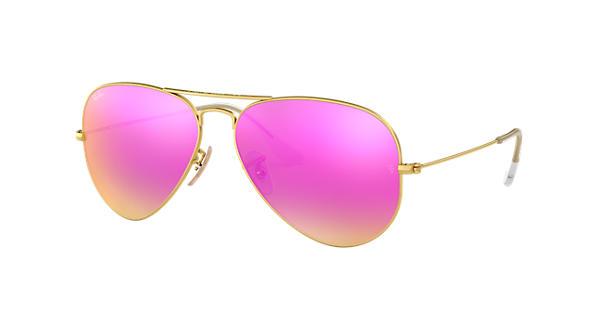 Ray ban aviator flash lenses gold rb3025 ray ban usa for Miroir rose gold
