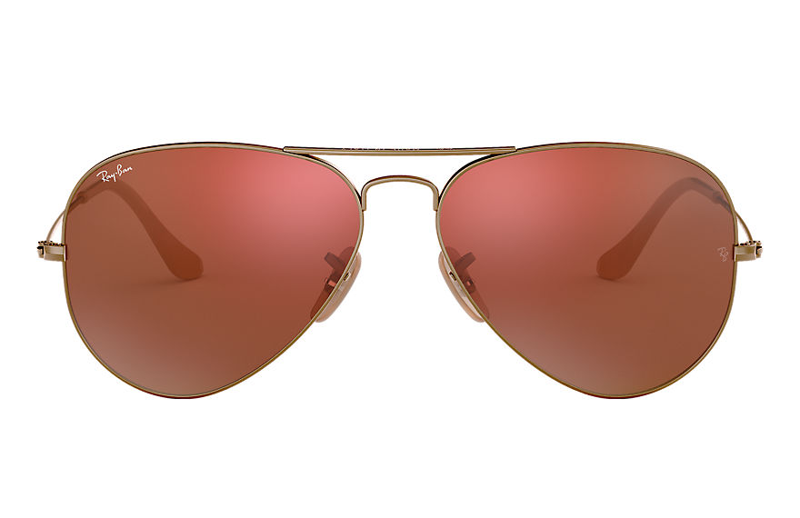Ray-Ban  sonnenbrillen RB3025 UNISEX 082 aviator flash lenses bronze kupfer 8053672340495