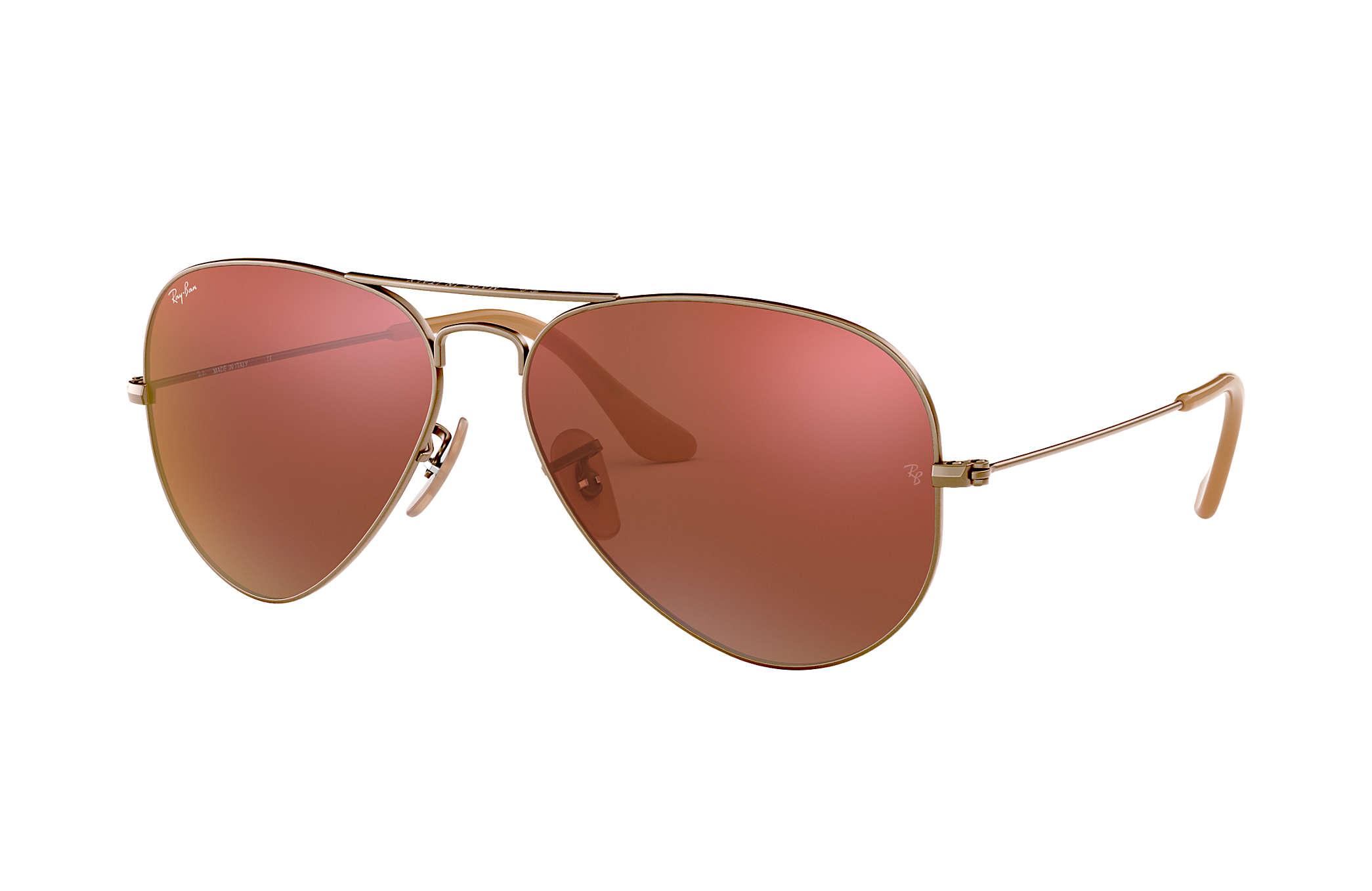 8e24b0a453e7 Ray-Ban Aviator Flash Lenses RB3025 Bronze-Copper - Metal - Red ...