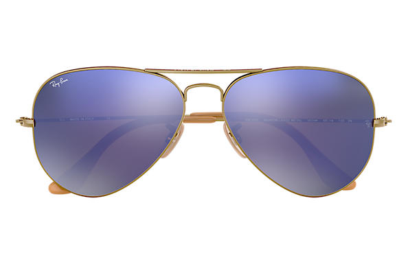 1c17763402 Ray-Ban Aviator Flash Lenses RB3025 Bronze-Copper - Metal - Lilac ...