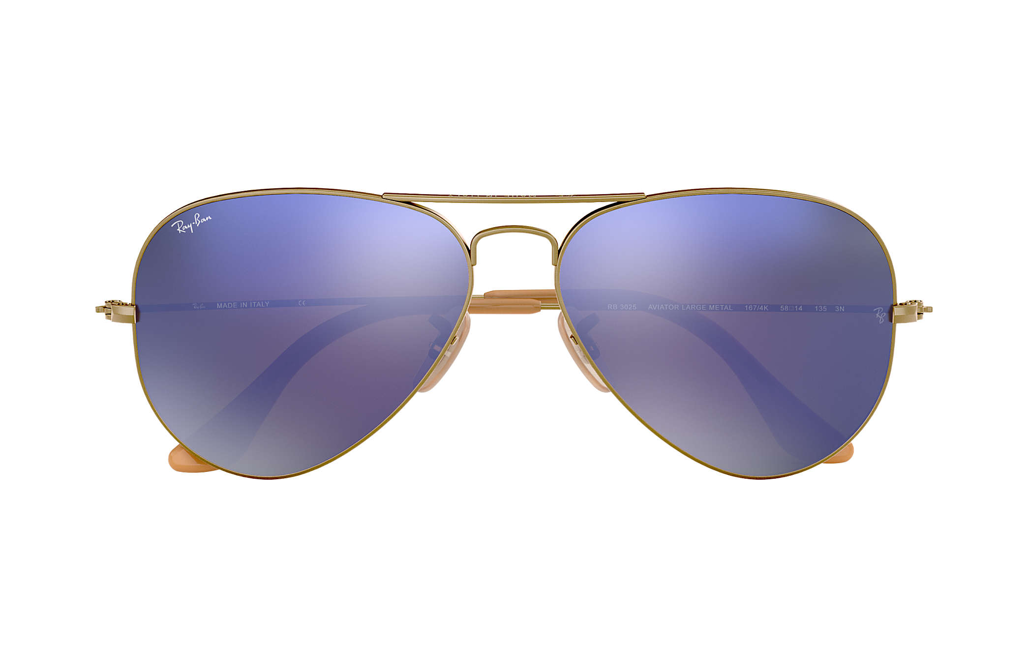 a4d6b90925e3 Ray-Ban Aviator Flash Lenses RB3025 Bronze-Copper - Metal - Lilac ...