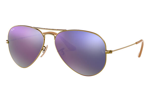 6325ff15c1 Ray-Ban Aviator Flash Lenses RB3025 Bronze-Copper - Metal - Lilac ...