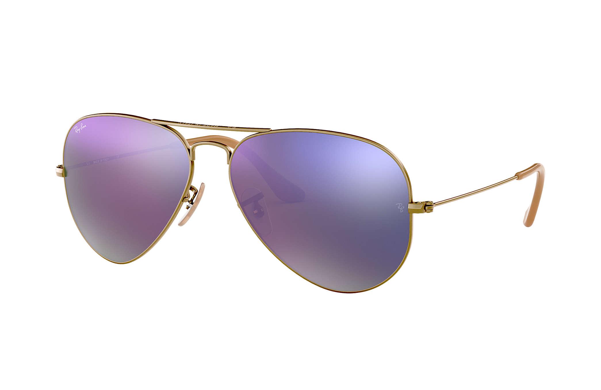 7293594543e0b Ray-Ban Aviator Flash Lenses RB3025 Bronze-Copper - Metal - Lilac ...