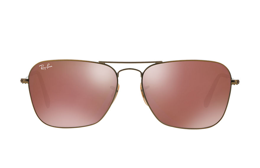 Ray-Ban CARAVAN Bronze-Copper with Red Mirror lens
