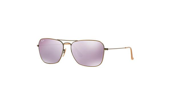 3e5d8b00db Ray-Ban Caravan RB3136 Bronze-Copper - Metal - Lilac Lenses -  0RB3136167 4K58