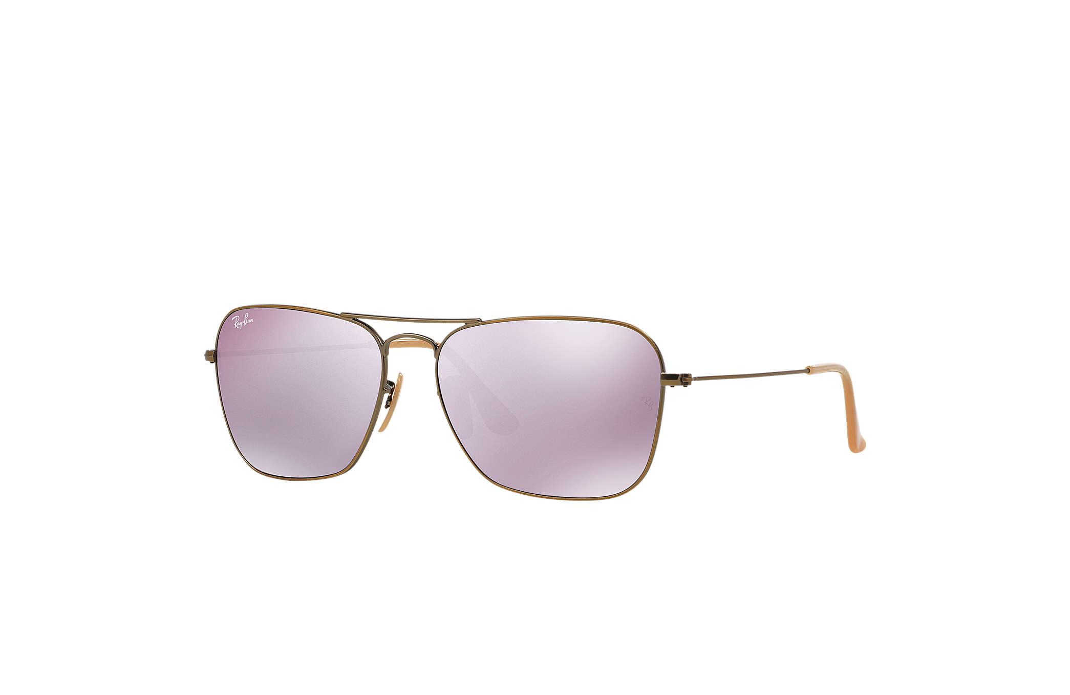 4d3bba87e0 Ray-Ban Caravan RB3136 Bronze-Copper - Metal - Lilac Lenses ...