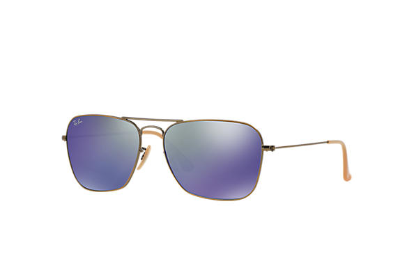 Ray-Ban Sunglasses CARAVAN Bronze-Copper with Lilac Mirror lens