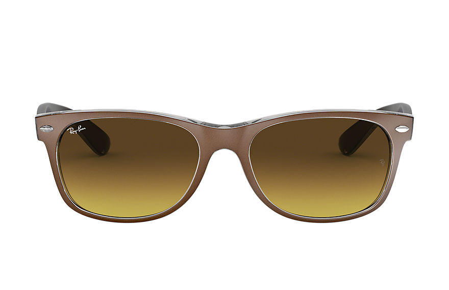Ray-Ban  sunglasses RB2132 UNISEX 018 new wayfarer color mix brown 8053672342338