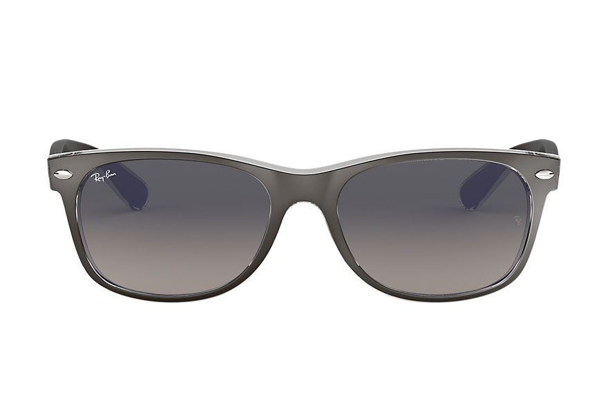 Ray-Ban Sunglasses NEW WAYFARER COLOR MIX Matte Gunmetal with Grey Gradient lens