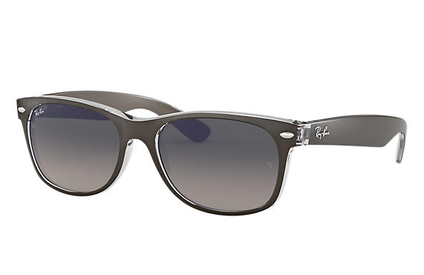 Ray-Ban 0RB2132-NEW WAYFARER COLOR MIX Gris acier opaque,Transparent; Gun,Transparent SUN