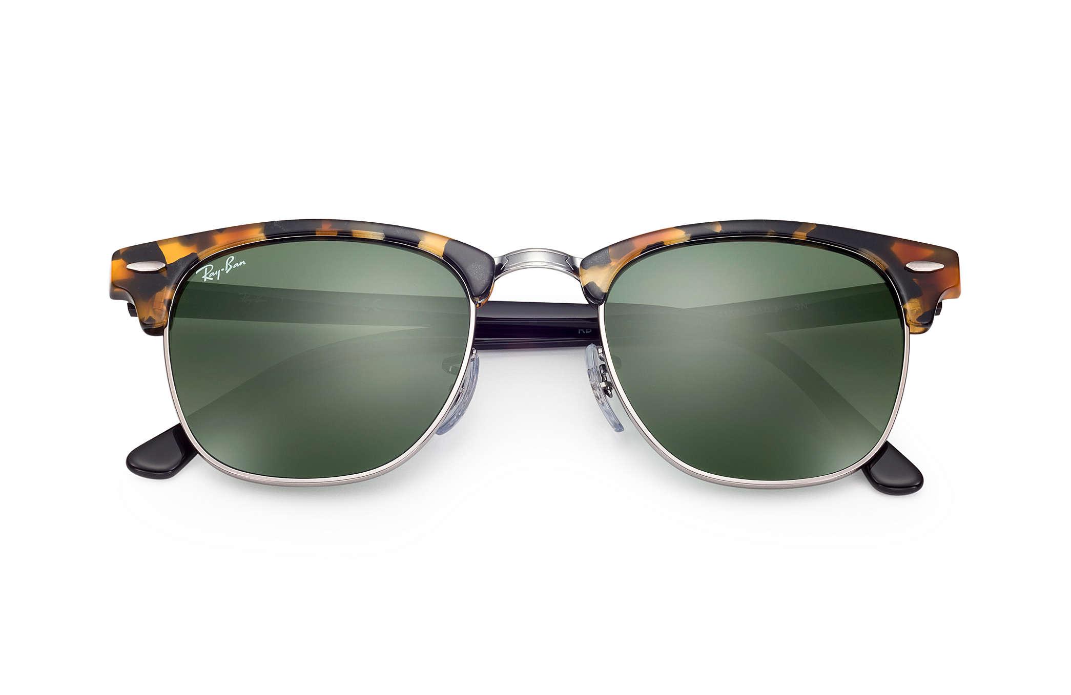 f6203d69249 Ray-Ban Clubmaster Fleck RB3016 Tortoise - Acetate - Green Lenses ...