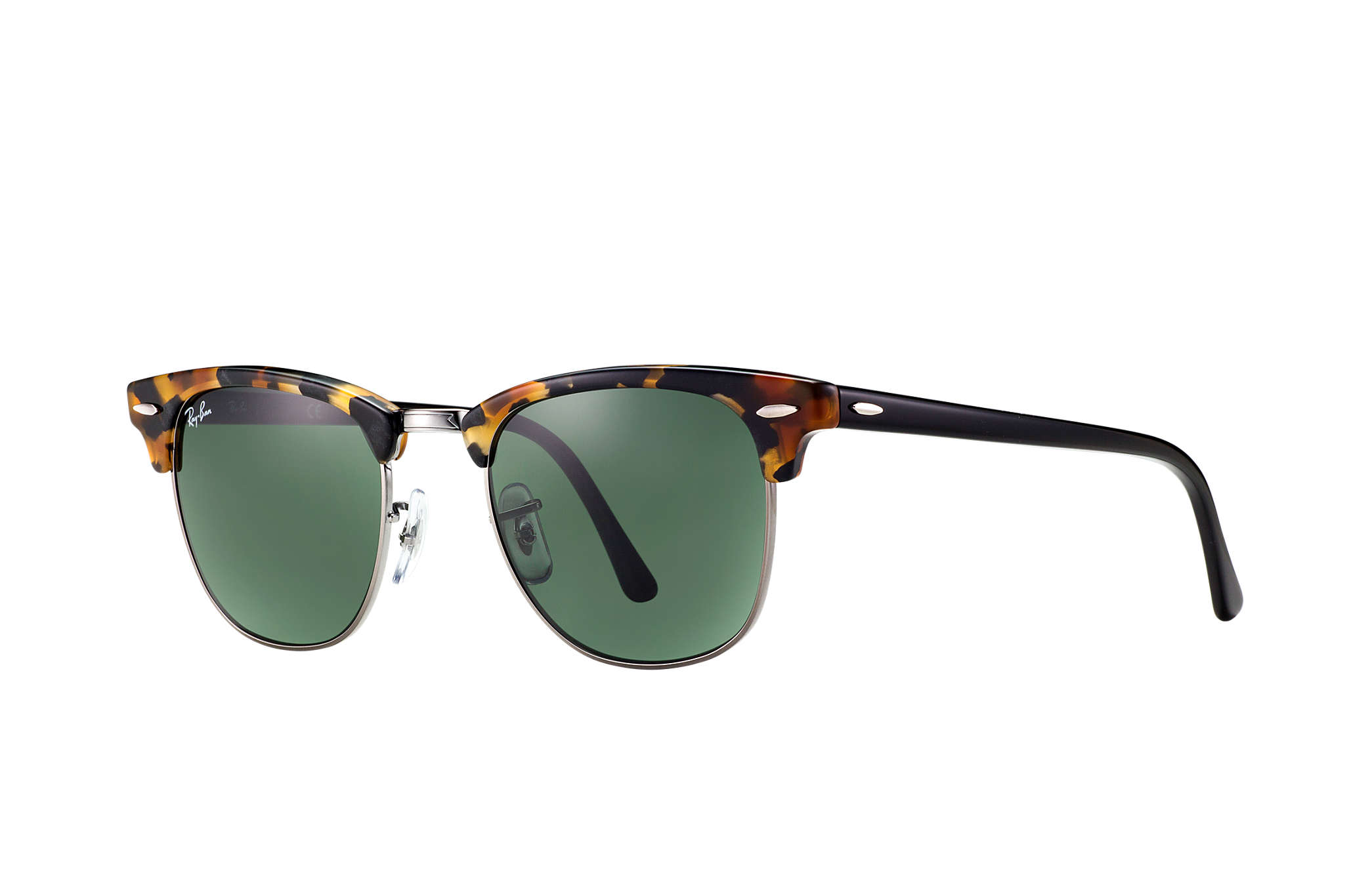 17f3f3616cec6 Ray-Ban Clubmaster Fleck RB3016 Tortoise - Acetate - Green Lenses ...
