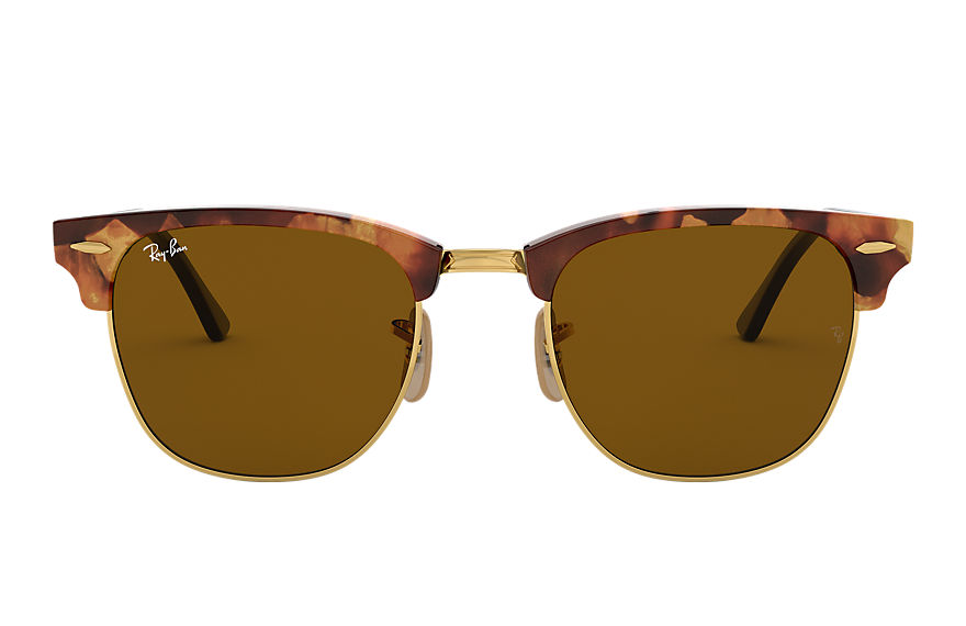 Ray-Ban CLUBMASTER FLECK Tortoise avec verres Brown Classic B-15