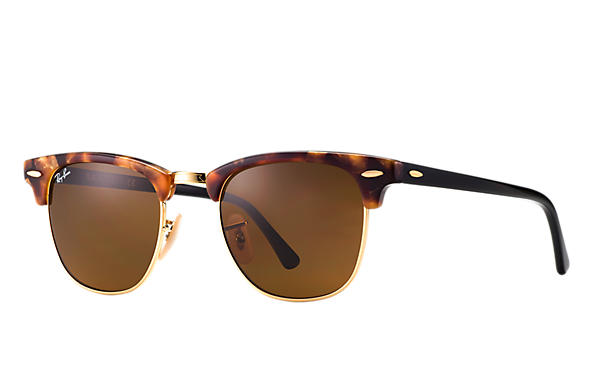 Ray-Ban Sunglasses CLUBMASTER FLECK Tortoise with Brown Classic B-15 lens