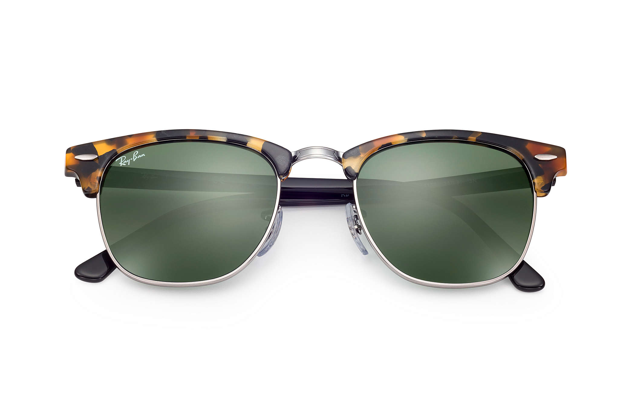 1e55729564 Ray-Ban Clubmaster Fleck RB3016 Tortoise - Acetate - Green Lenses ...
