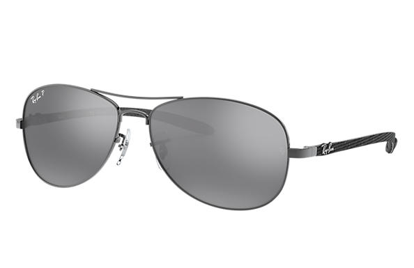 b340b33a2b Ray-Ban RB8301 Gunmetal - Carbon Fibre - Silver Polarized Lenses ...
