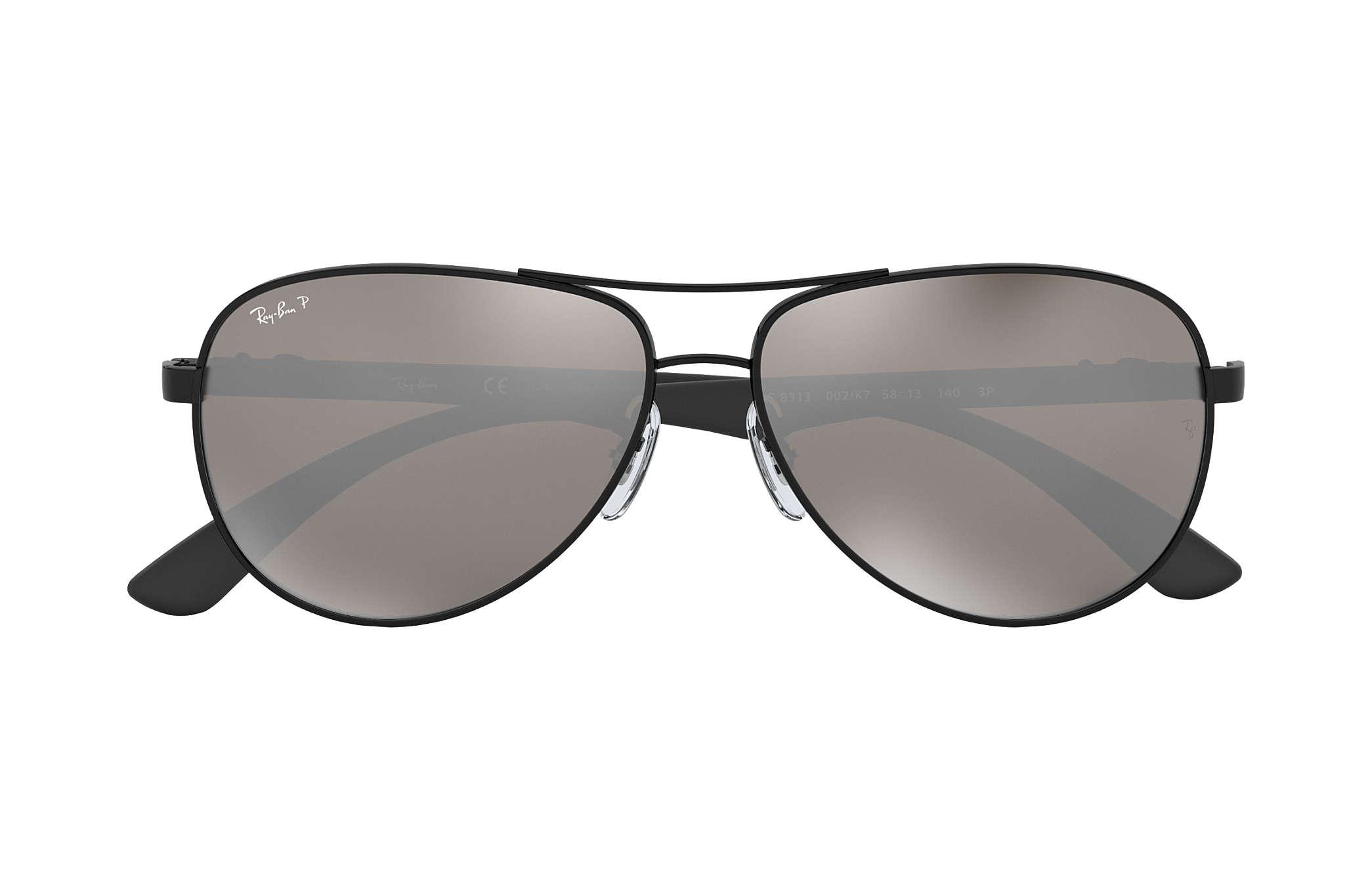 f490fd2c262 Ray-Ban RB8313 Black - Carbon Fibre - Grey Polarized Lenses ...