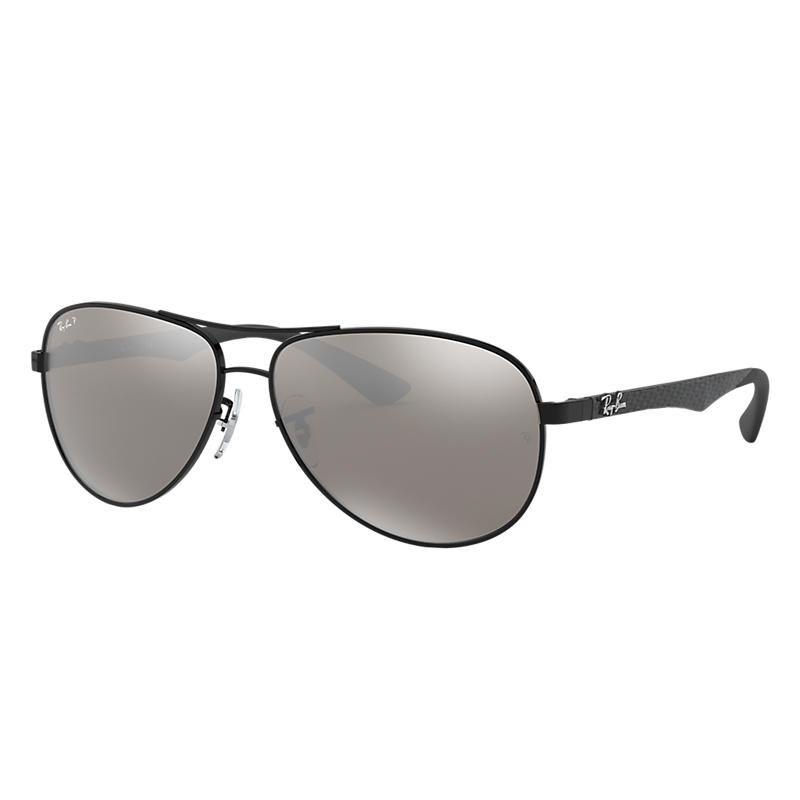 Ray-Ban Black Sunglasses, Polarized Gray Lenses -