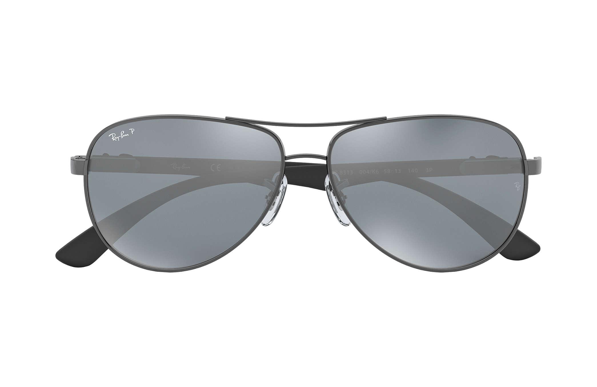 8b93bd9a0d6 Ray-Ban RB8313 Gunmetal - Carbon Fibre - Silver Polarized Lenses ...