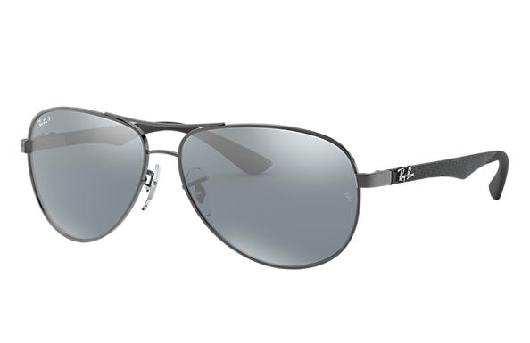 3e27e74caf1 Ray-Ban RB8313 Gunmetal - Carbon Fibre - Silver Polarized Lenses ...