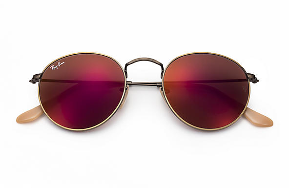 7b25adff9b greece ray ban round metal red mirror flash lenses 96a7e 5619d  real ray ban  0rb3447 round flash lenses bronze copper sun 64354 865cb