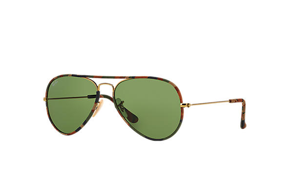 Ray-Ban 0RB3025JM-AVIATOR FULL COLOR 多色; 金色 SUN