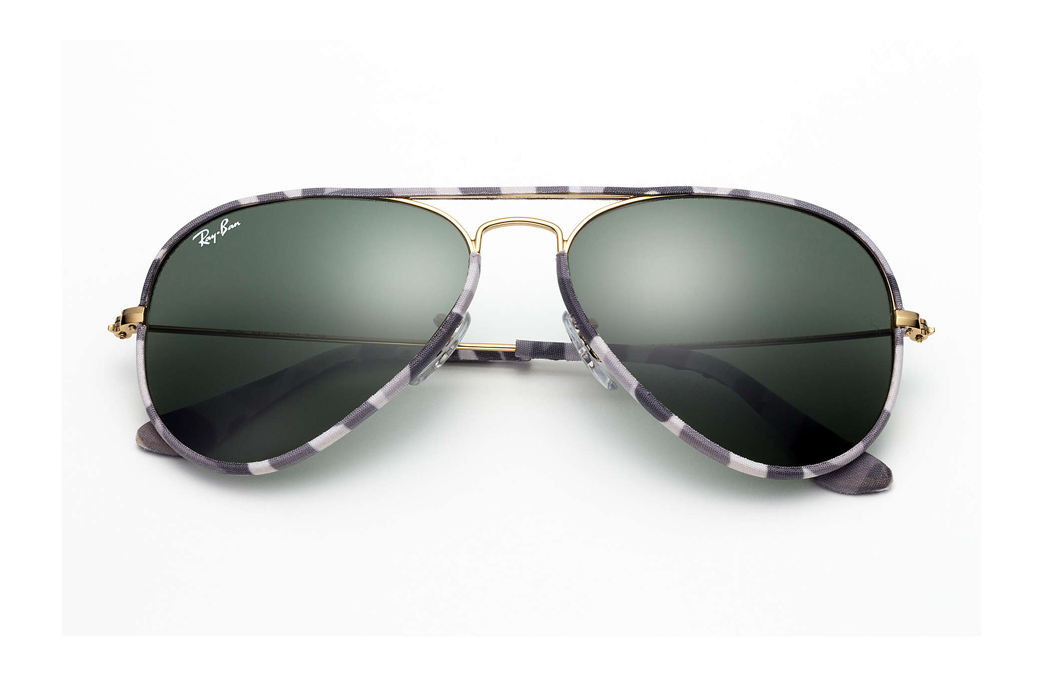 91a519c7bf Ray-Ban Aviator Full Color RB3025JM Multicolor - Metal - Green ...