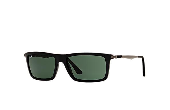03b0546bf89 Ray-Ban RB4214 Black - Nylon - Green Lenses - 0RB4214601S7159