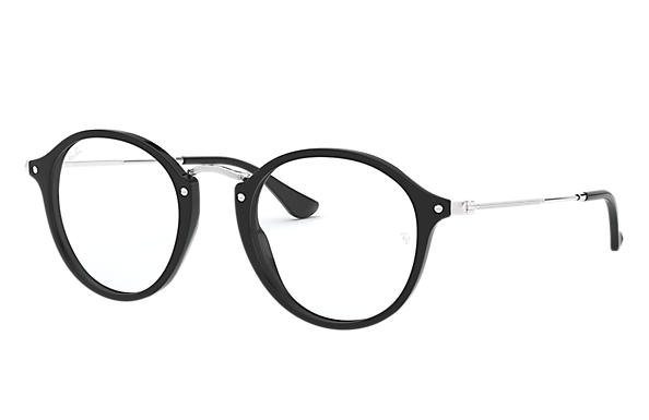 Ray Ban Prescription Glasses Round Fleck Rb2447v Black