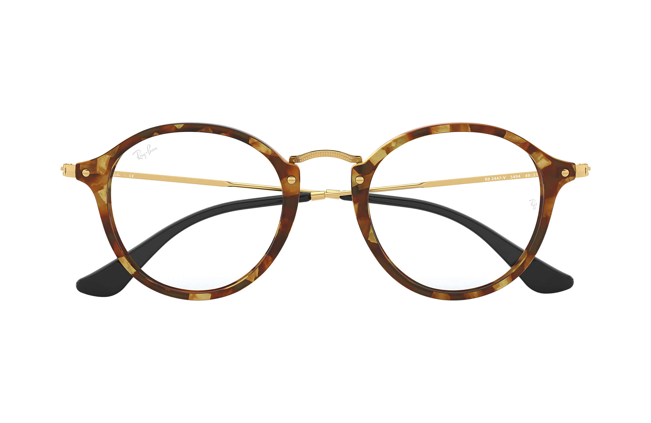 ray ban round fleck ecaille