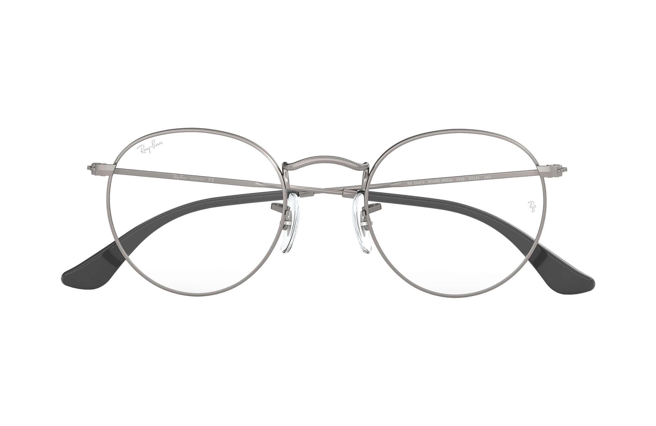 b7b9547338 Ray-Ban prescription glasses Round Metal Optics RB3447V Gunmetal ...