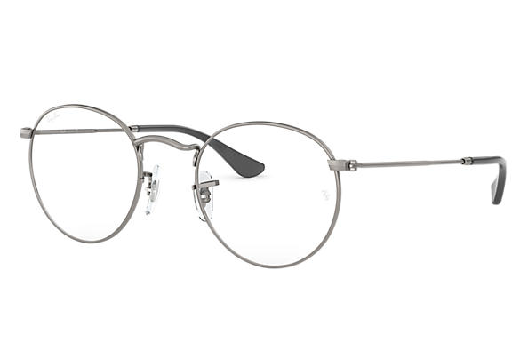 Ray-Ban prescription glasses Round Metal Optics RB3447V Gunmetal ...