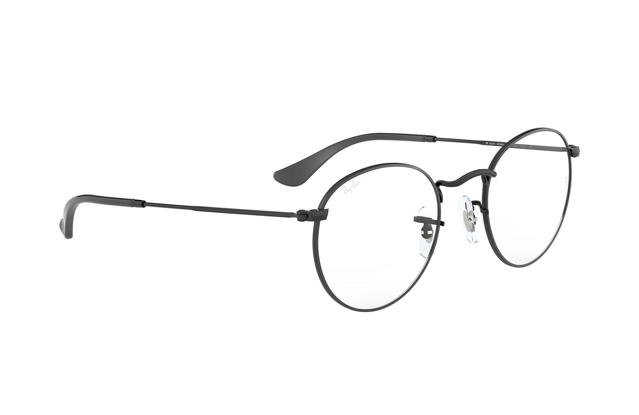 fb294b209 Ray-Ban prescription glasses Round Metal Optics RB3447V Black ...
