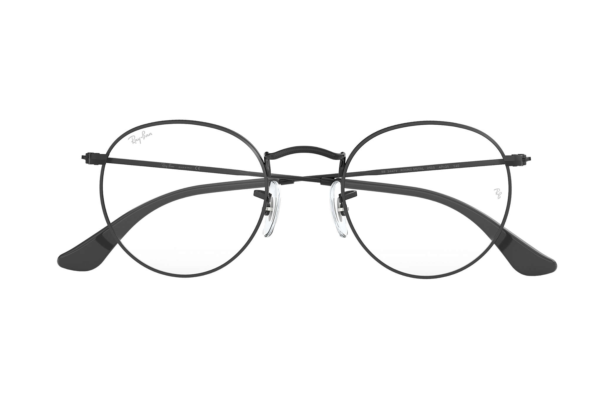 d6669083b02 Ray-Ban eyeglasses Round Metal Optics RB3447V Black - Metal ...
