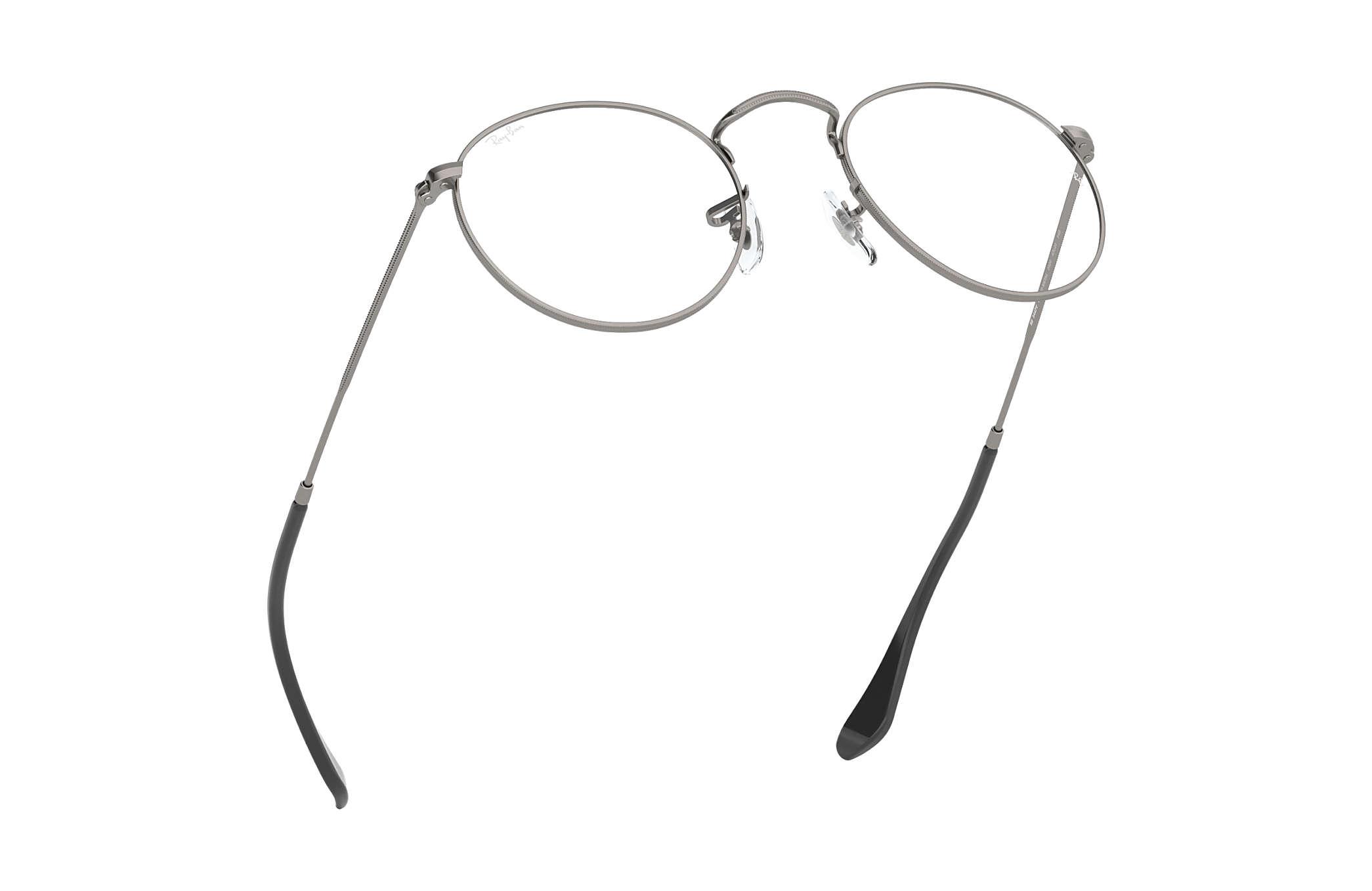 Ray-Ban eyeglasses Round Metal Optics RB3447V Gunmetal - Metal ... 47faa9767414