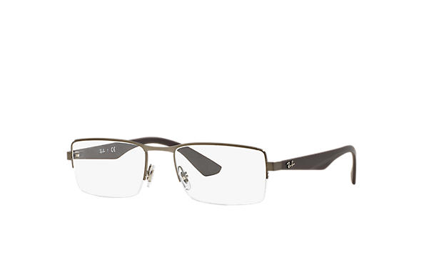 Ray-Ban 0RX6331-RB6331 Gunmetal; Brown OPTICAL