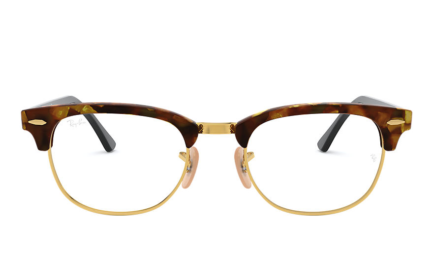 Ray-Ban  eyeglasses RX5154 UNISEX 014 clubmaster fleck optics 호피색 8053672357240