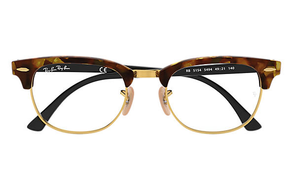 b0ad15cfa0 ... Ray-Ban 0RX5154-Clubmaster Fleck Optics Tortoise  Black OPTICAL ...