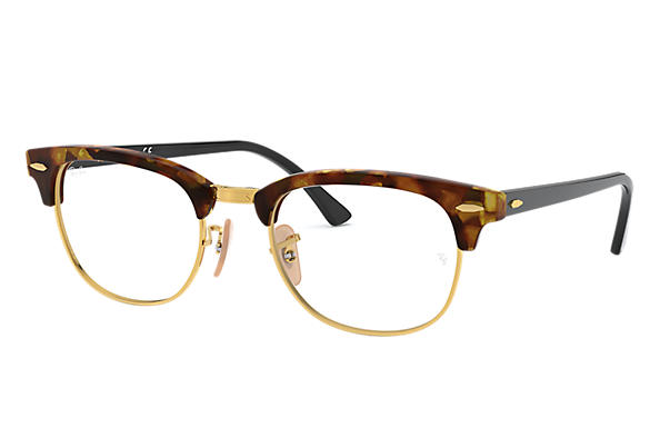 Ray-Ban 0RX5154-Clubmaster Fleck Optics Tortoise; Black OPTICAL