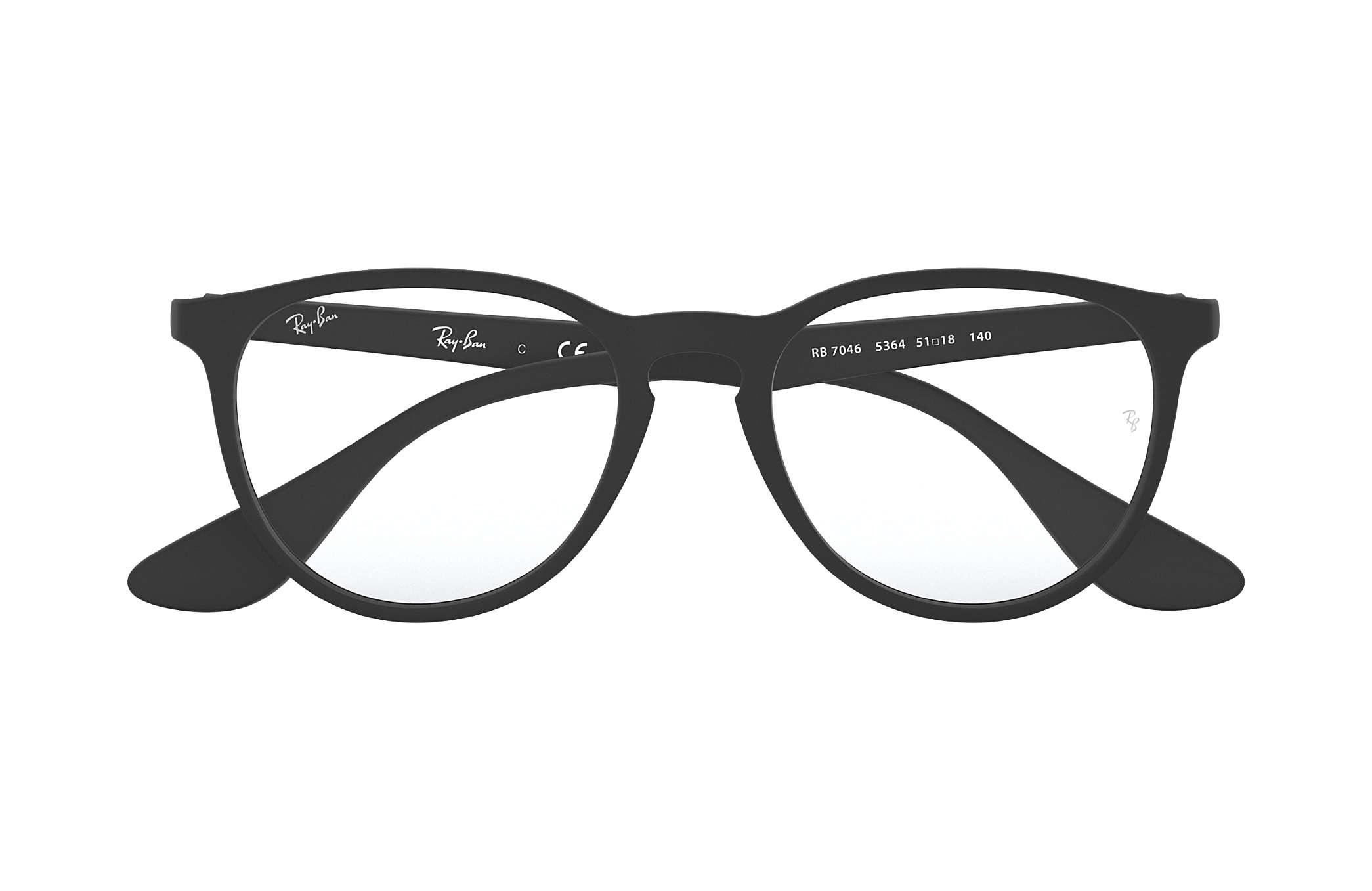 9b7b0c8e69 Ray-Ban eyeglasses Erika Optics RB7046 Black - Nylon - 0RX7046536451 ...