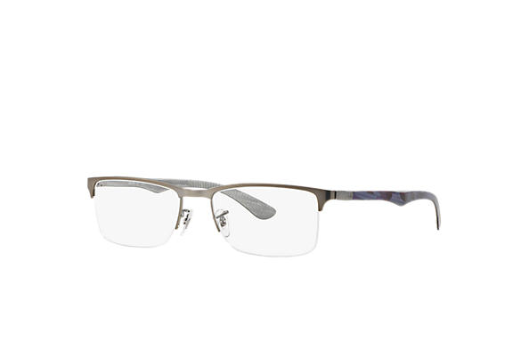 Ray-Ban 0RX8413-RB8413 Gunmetal; Blue OPTICAL
