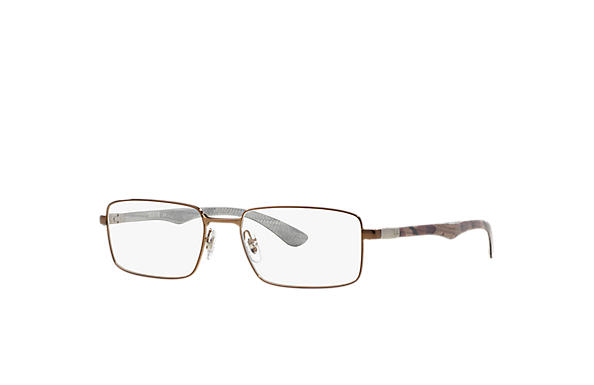 Ray-Ban 0RX8414-RB8414 Marrom-claro; Ouro OPTICAL