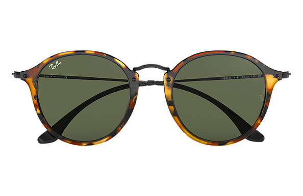 ray ban round fleck brille