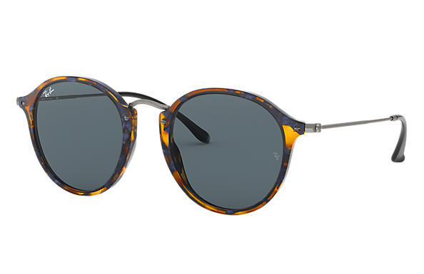 30f42035d37 Ray-Ban Round Fleck RB2447 Tortoise - Acetate - Blue Gray Lenses ...